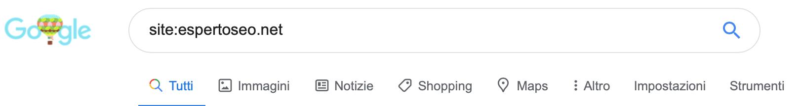 Ricerca site Google