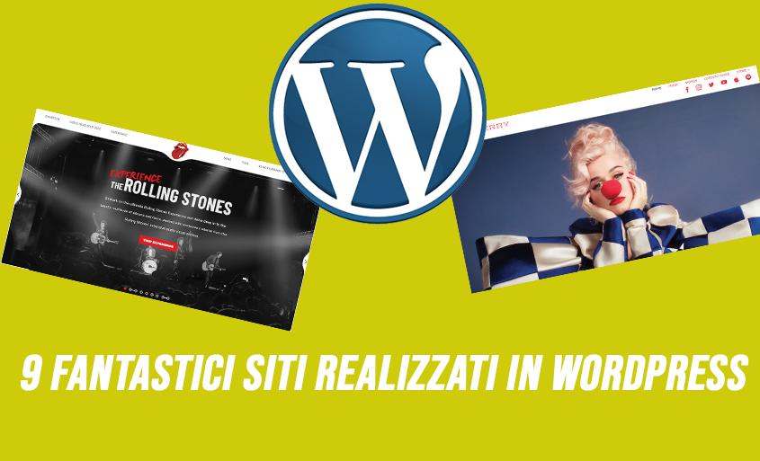 9 Fantastici siti web realizzati in WordPress