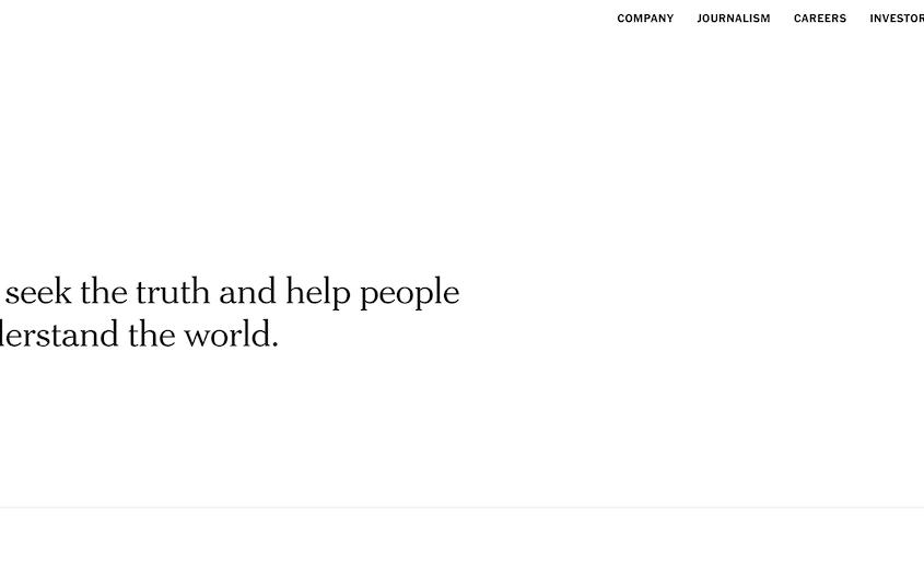 Realizzazione siti WordPress The New York Times