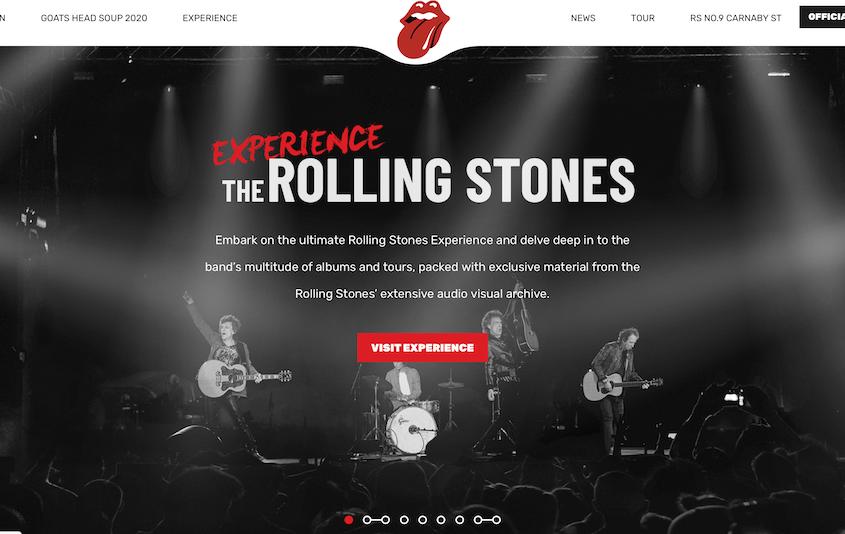 Realizzazione siti WordPress The Rolling Stones
