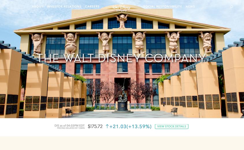 Realizzazione siti WordPress The Walt Disney Company